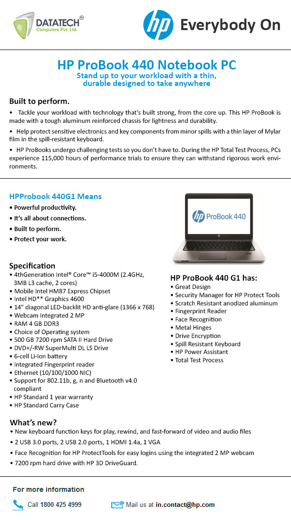 HP Probook 440G1 Notebook